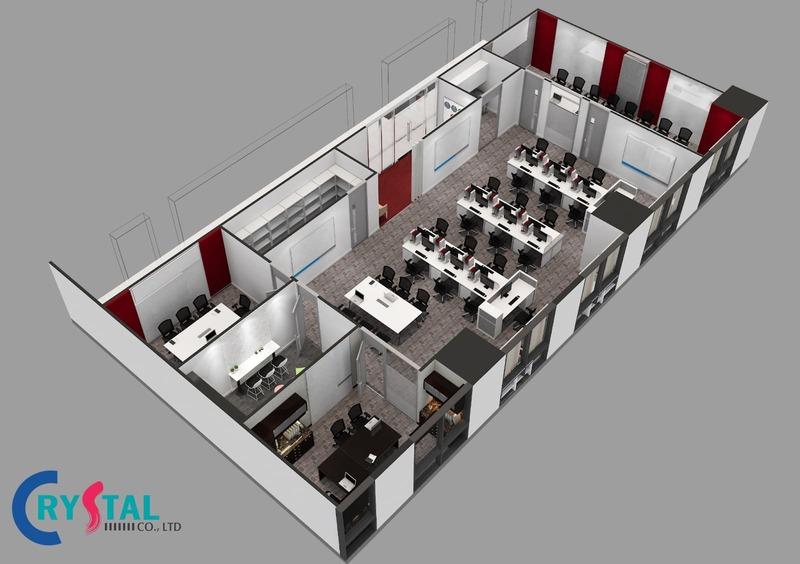 thiết kế nội thất văn phòng công ty hcm - Crystal Design TPL