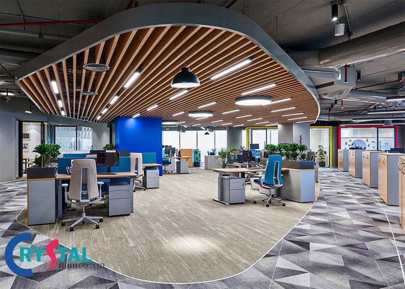 thiết kế nội thất văn phòng công ty - Crystal Design TPL
