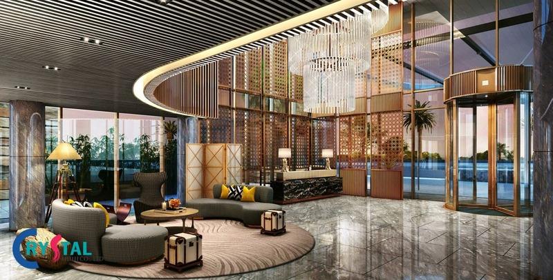 thiết kế nội thất văn phòng đại diện - Crystal Design TPL