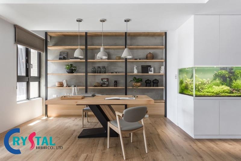 thiết kế nội thất văn phòng đẹp - Crystal Design TPL