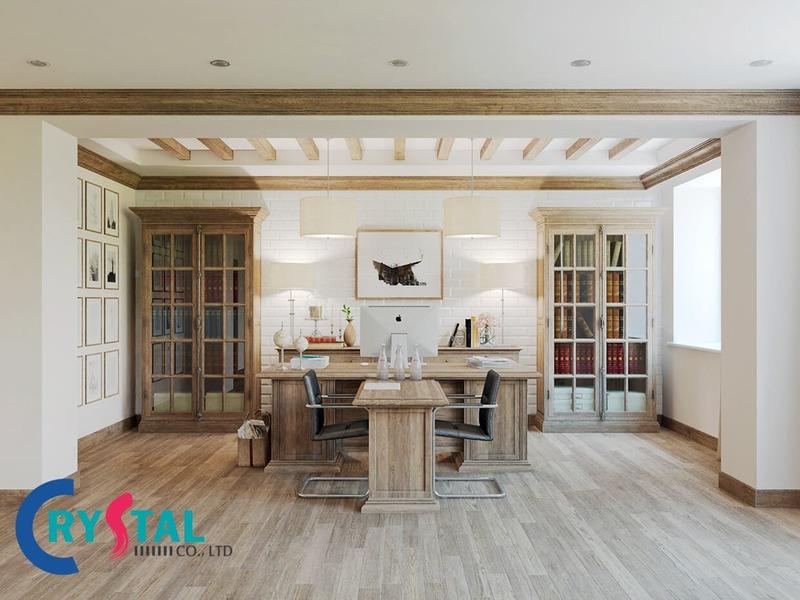 thiết kế nội thất văn phòng đẹp hiện đại - Crystal Design TPL