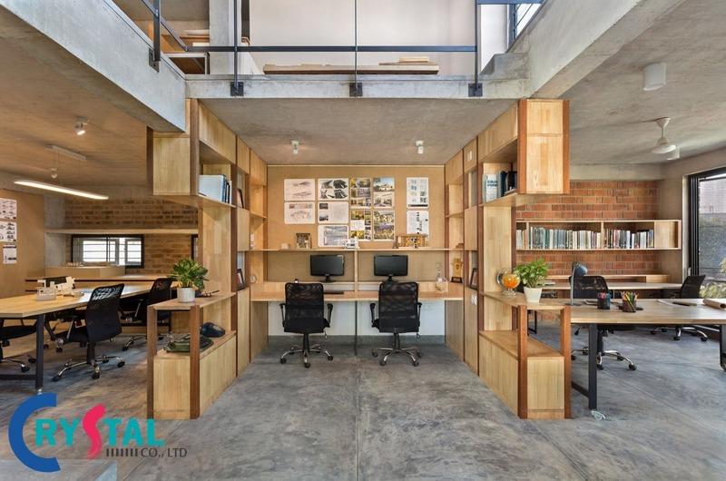thiết kế nội thất văn phòng hcm - Crystal Design TPL