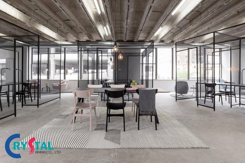 thiết kế nội thất văn phòng hiện đại - Crystal Design TPL