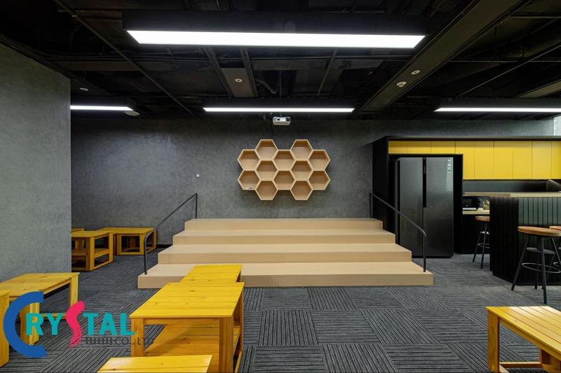 thiết kế nội thất văn phòng thông minh - Crystal Design TPL