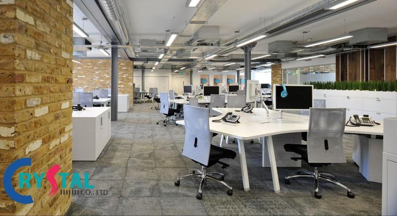 thiết kế nội thất văn phòng tphcm - Crystal Design TPL