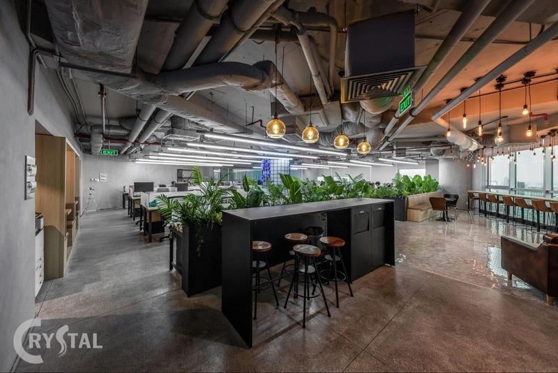 thiết kế nội thất văn phòng - Crystal Design TPL