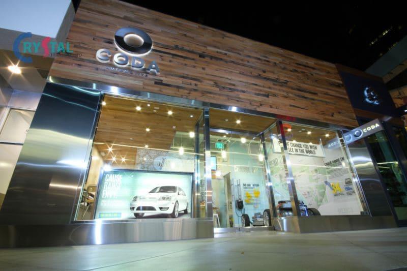 thiết kế ô tô showroom nội thất - Crystal Design TPL