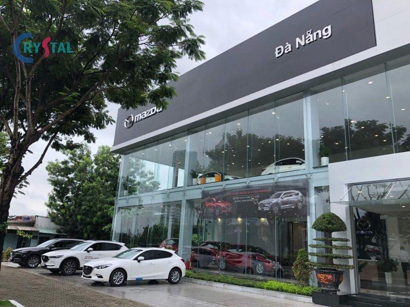 thiết kế ô tô showroom - Crystal Design TPL