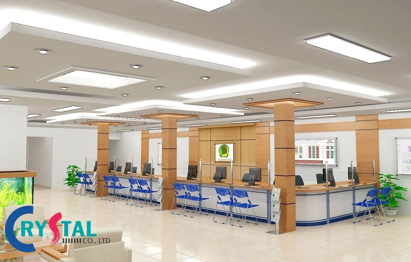 thiết kế phòng giao dịch cao cấp - Crystal Design TPL