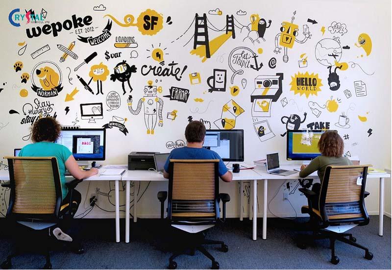 thiết kế phòng làm việc công sở hiện đại