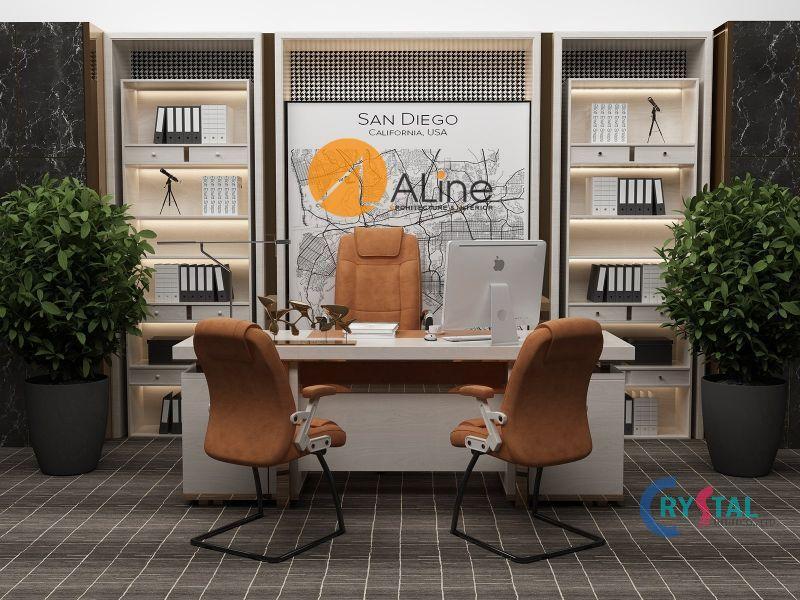 thiết kế phòng làm việc đẹp - Crystal Design TPL