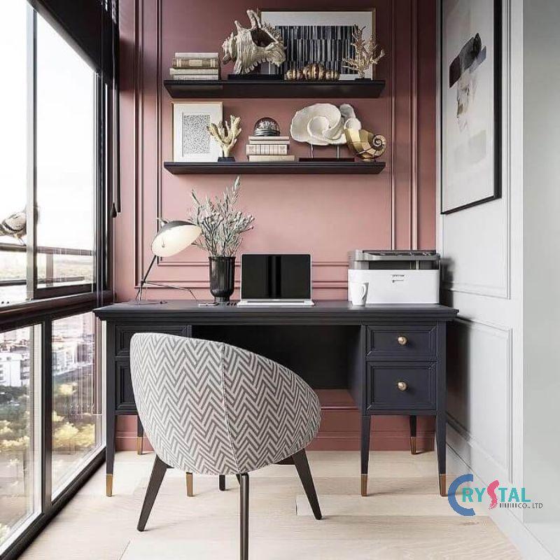 thiết kế phòng làm việc hiện đại - Crystal Design TPL