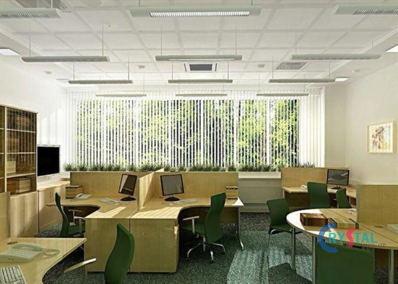 thiết kế phòng làm việc tại nhà sang trọng - Crystal Design TPL