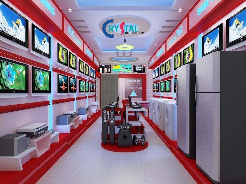 thiết kế phòng trưng bày sản phẩm - Crystal Design TPL