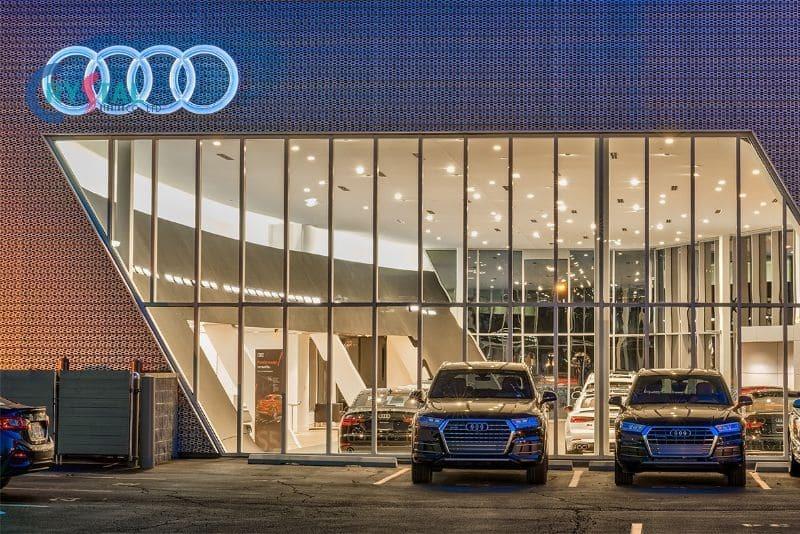 thiết kế phòng trưng bày showroom ô tô - Crystal Design TPL