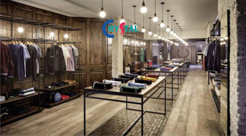 thiết kế quán quần áo nam - Crystal Design TPL