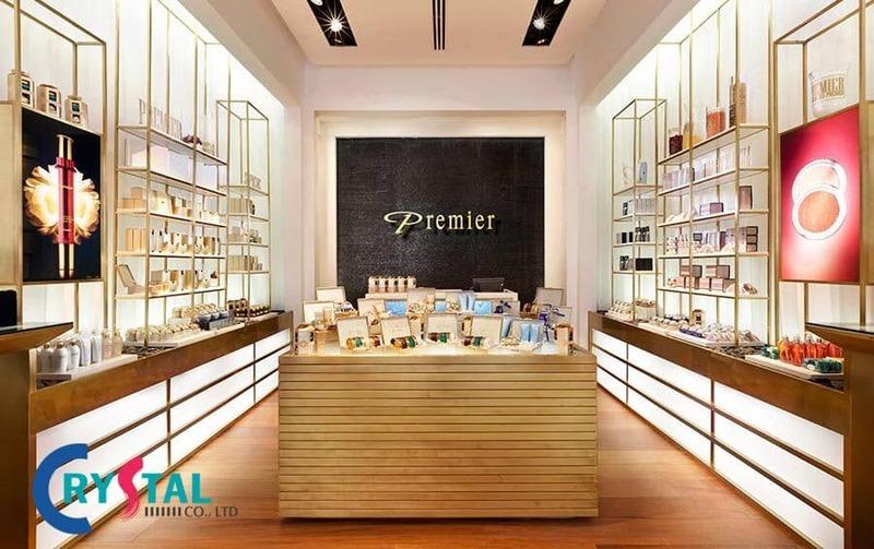 thiết kế shop bán mỹ phẩm - Crystal Design TPL