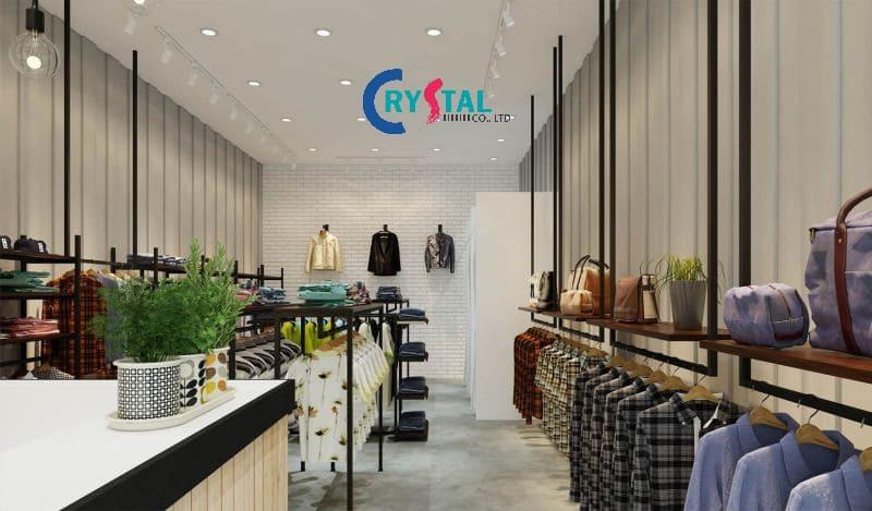 thiết kế shop đồ nam đẹp - Crystal Design TPL