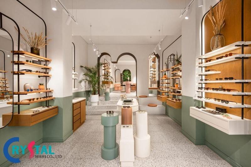 thiết kế shop mỹ phẩm đẹp - Crystal Design TPL