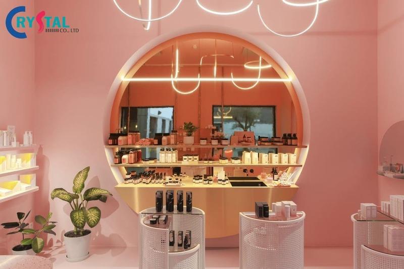 thiết kế shop mỹ phẩm giá rẻ - Crystal Design TPL