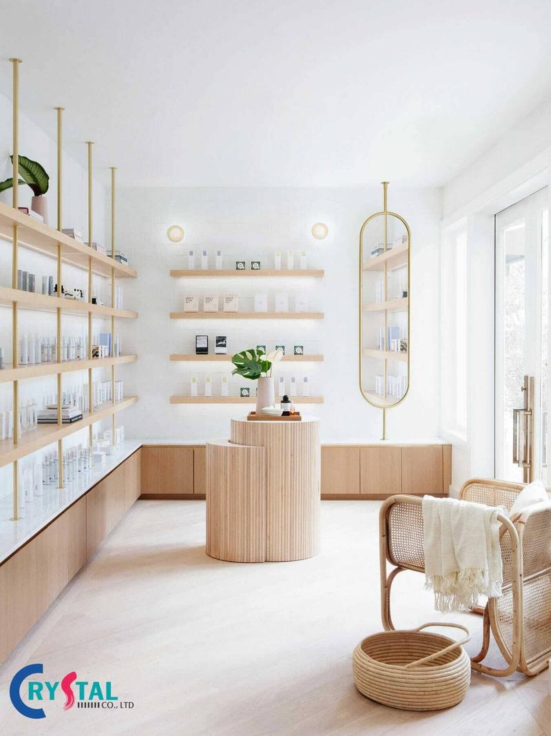 thiết kế shop mỹ phẩm nhỏ đẹp - Crystal Design TPL