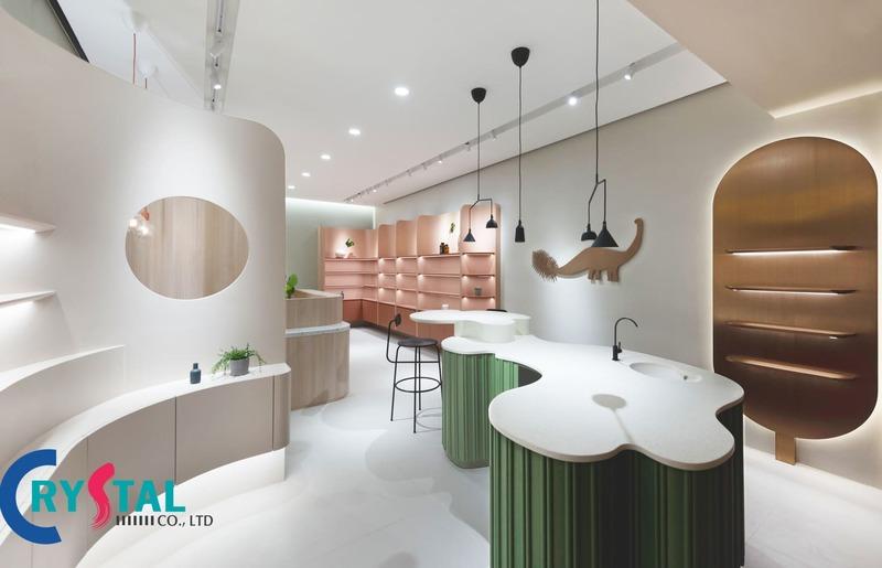 thiết kế shop mỹ phẩm nhỏ - Crystal Design TPL