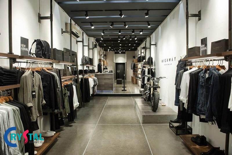 thiết kế shop quần áo đẹp - Crystal Design TPL