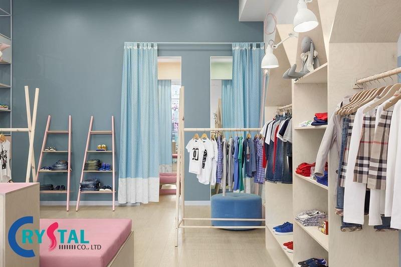 thiết kế shop quần áo giá bao nhiêu - Crystal Design TPL