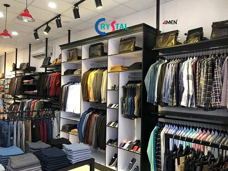 thiết kế shop quần áo nam đơn giản - Crystal Design TPL