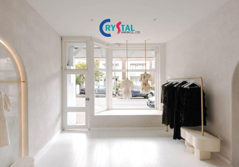 thiết kế shop quần áo nam nhỏ đẹp - Crystal Design TPL