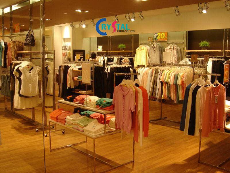 thiết kế shop quần áo nam - Crystal Design TPL