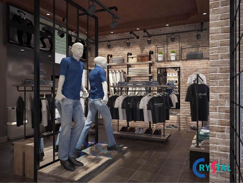 thiết kế shop quần áo uy tín - Crystal Design TPL