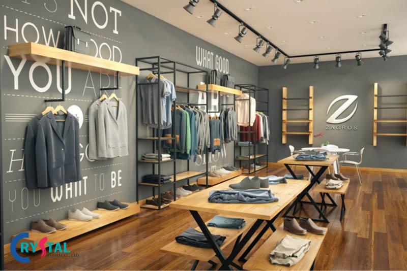 thiết kế shop quần áo - Crystal Design TPL