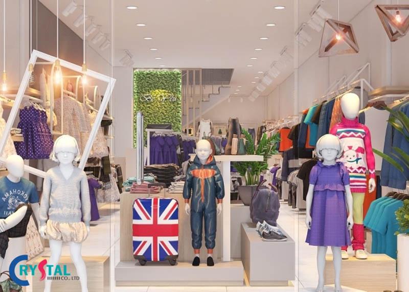 thiết kế shop thời trang cho trẻ em - Crystal Design TPL