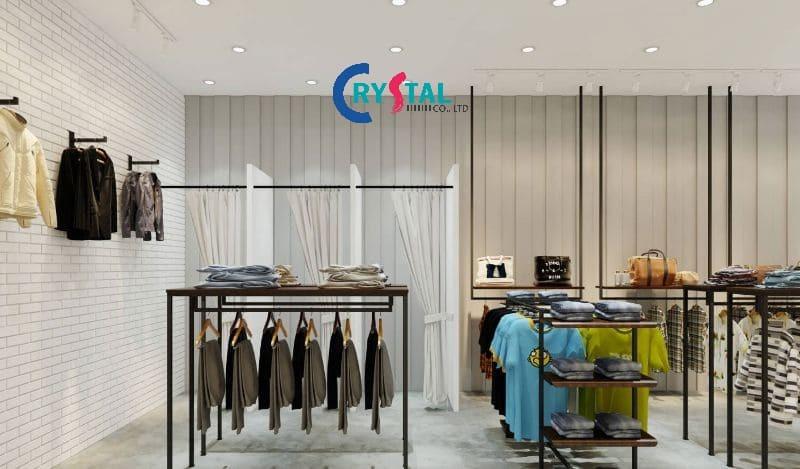 thiết kế shop thời trang nam đẹp - Crystal Design TPL