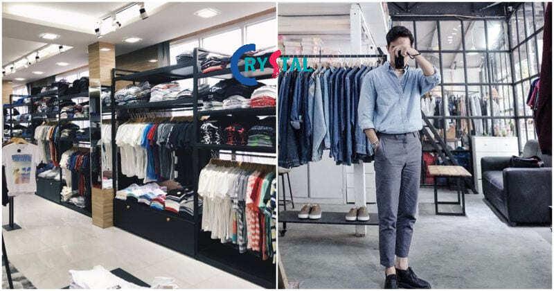 thiết kế shop thời trang nam - Crystal Design TPL