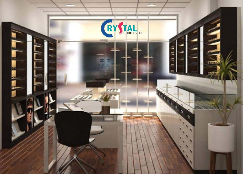 thiết kế showroom đẹp hiện đại - Crystal Design TPL