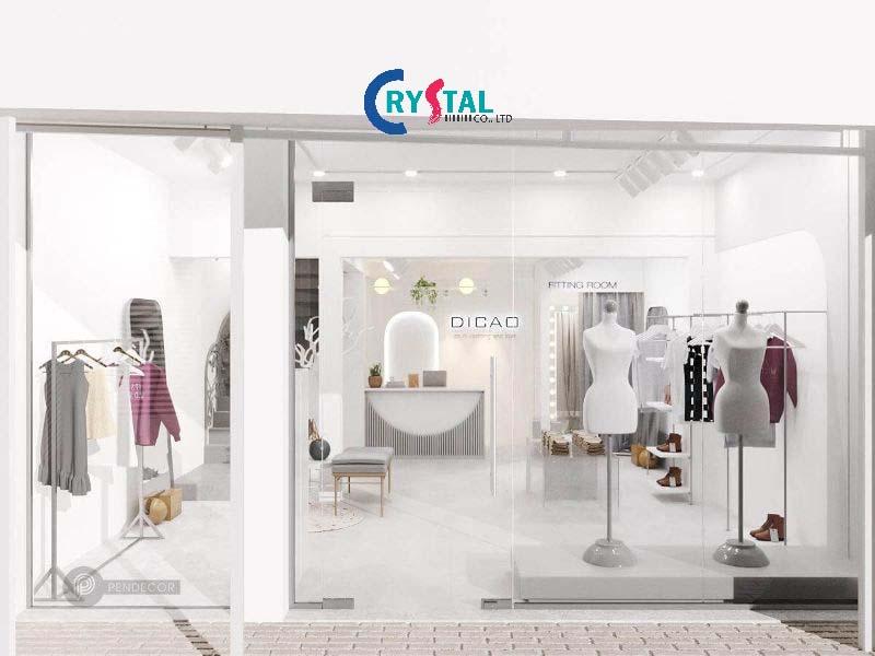 thiết kế showroom đẹp và sang trọng theo phong cách Boutique - Crystal Design TPL