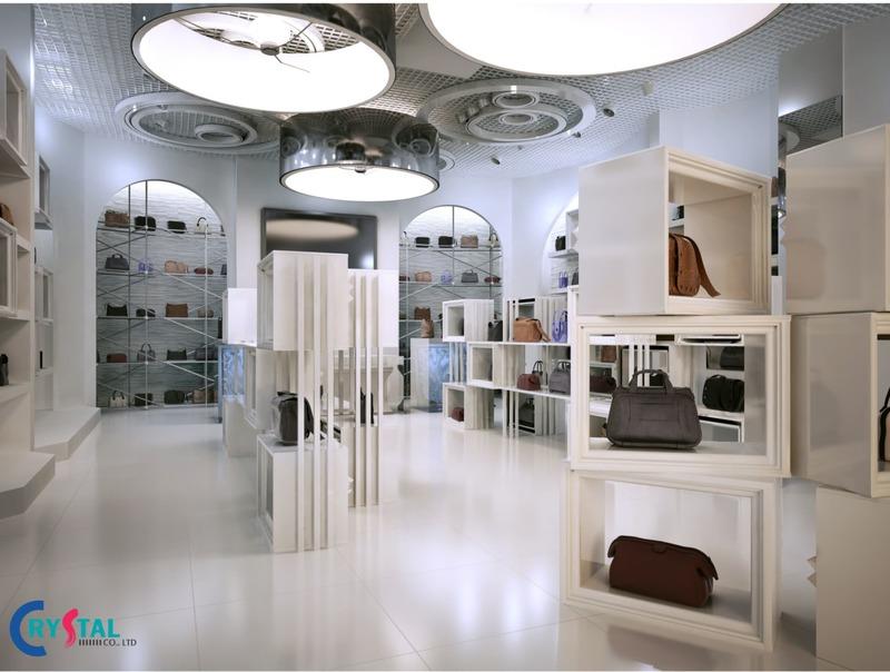thiết kế showroom nội thất đẹp - Crystal Design TPL