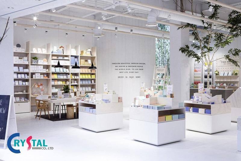 thiết kế showroom shop cửa hàng - Crystal Design TPL