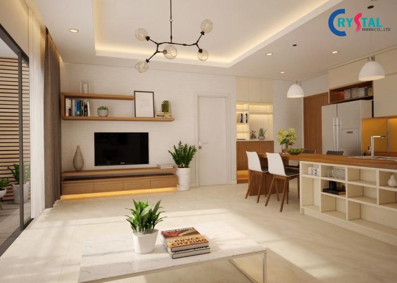 thiết kế thi công nội thất căn hộ - Crystal Design TPL