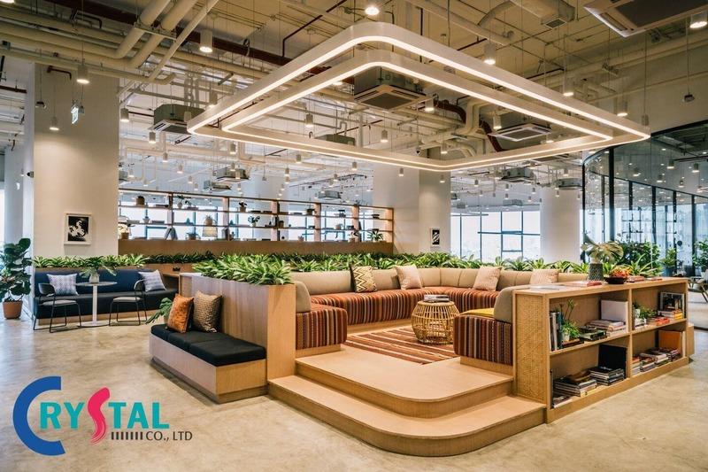 thiết kế thi công nội thất phòng phụ trợ - Crystal Design TPL