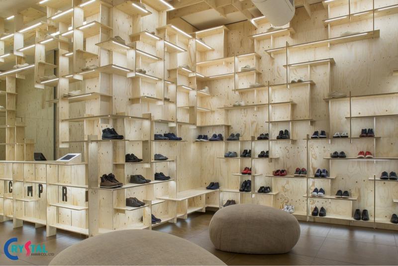 thiết kế thi công nội thất showroom - Crystal Design TPL