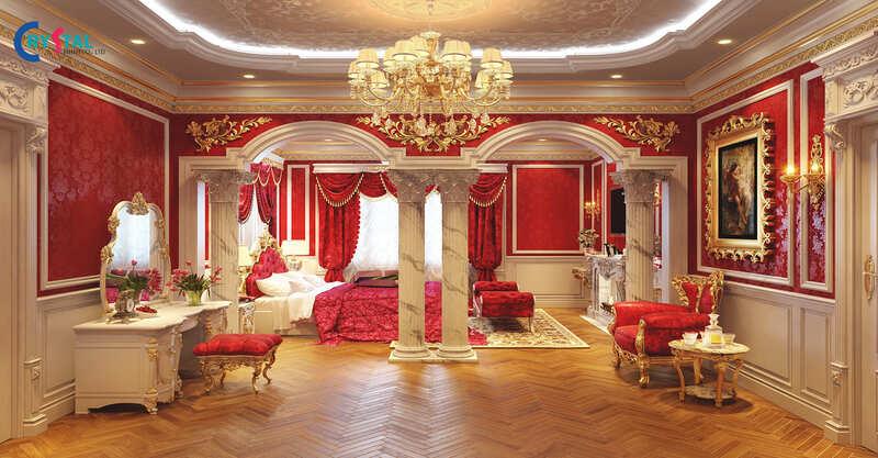 thiết kế thi công nội thất tân cổ điển - Crystal Design TPL