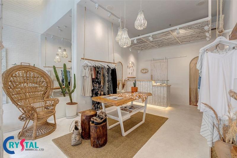 thiết kế thi công shop quần áo - Crystal Design TPL