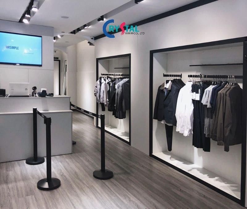 thiết kế thi công shop thời trang nam đẹp - Crystal Design TPL