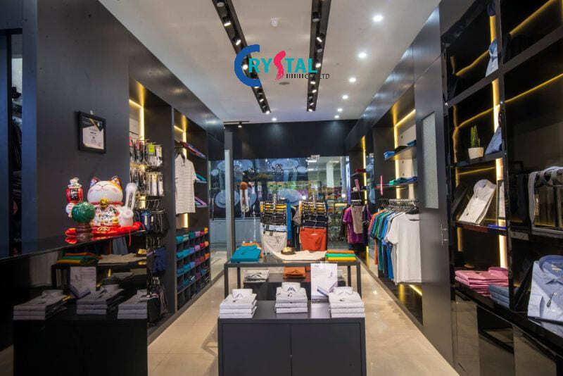thiết kế thi công shop thời trang nam - Crystal Design TPL