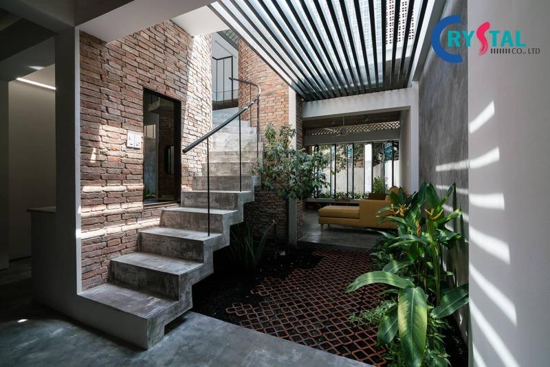 thiết kế thi công văn phòng xanh thân thiện - Crystal Design TPL