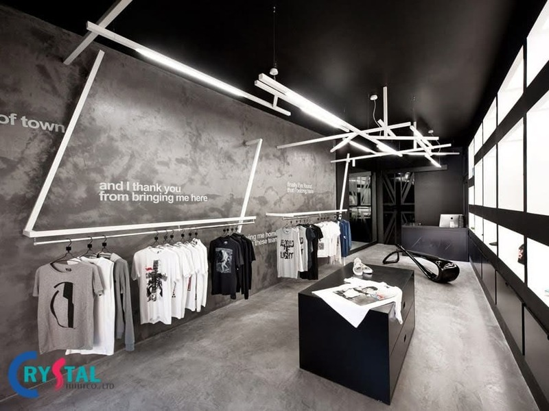 thiết kế và thi công shop thời trang - Crystal Design TPL
