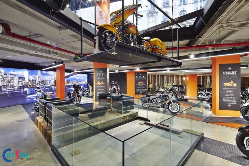 thiết kế và thi công showroom - Crystal Design TPL